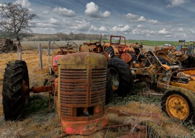 Anciens tracteurs à Boeurs en Othe