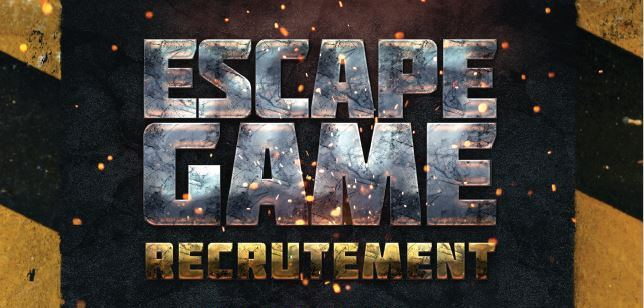 Escape Game – Recrutement- On en parle !