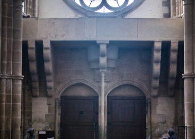 Porte et rosace - Revers de la façade occidentale