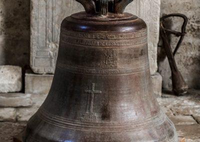 La cloche fondue en 1623 et posée dans la collégiale