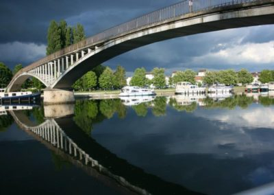 Auxerre - Ciel et passerelle 02