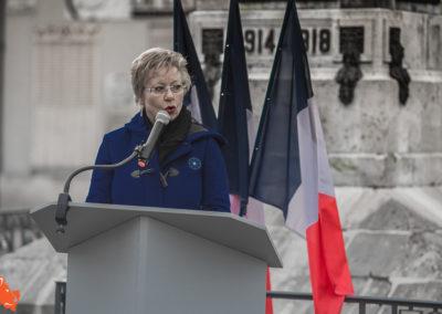 Catherine Maudet - Conseillère départementale à Villeneuve l'Archevêque le 11 novembre 2019