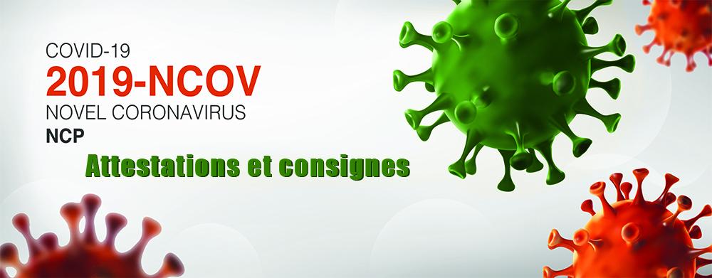 Nouvelles attestations et consignes de sortie COVID 19