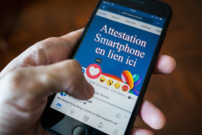 Téléchargez le lien pour votre attestation via smartphone