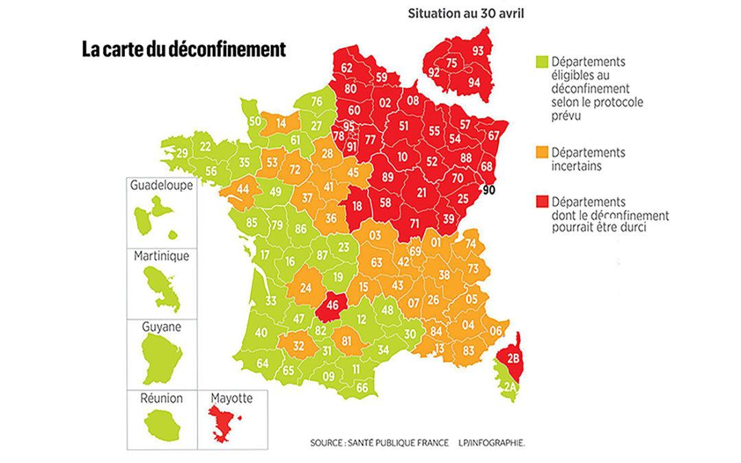 L'Yonne sur la carte de déconfinement progressif